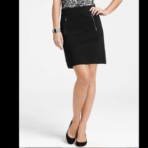 Ann Taylor skirt with front zipper pockets